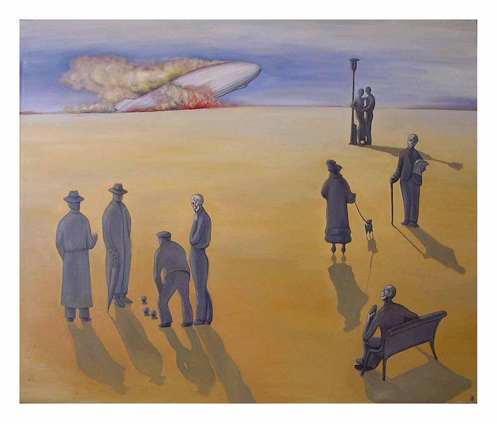 Βασίλης Λιάκος, Ζωγραφική, artvali.gr, «Το μέγα τίποτα» 1995 ελαιογραφία σε καμβά 120Χ100